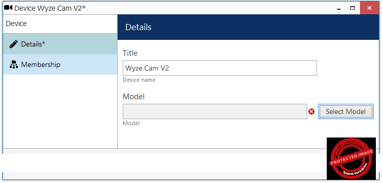 How to Record the Wyze camera on a PC  - Chose the Model