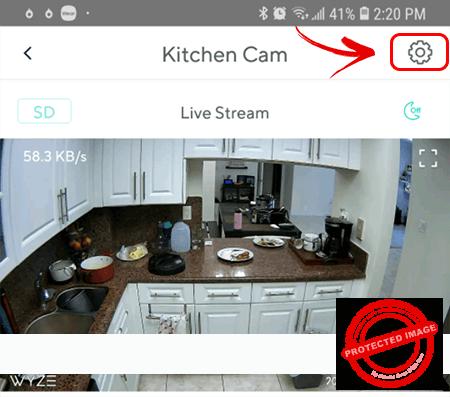 Wyze cam configuration button