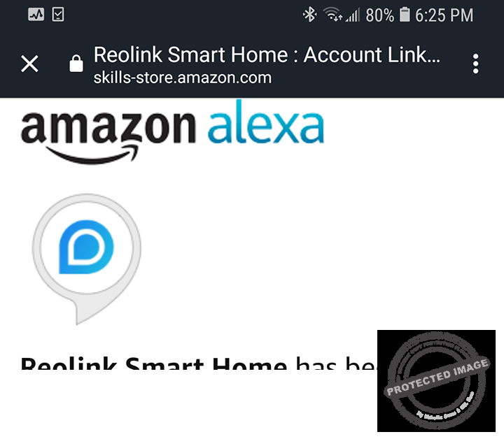 Amazon Alexa and Reoling Successfully Linked