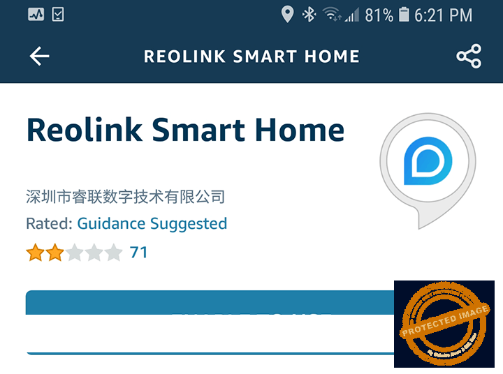 Reolink Smart Home Enable to Use