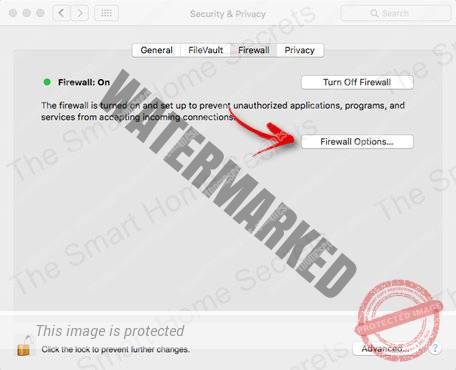 Firewall on MAC