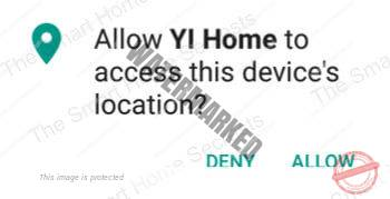 Allow camera to access device location