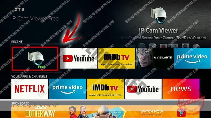 IP Cam Viewer on Fire Stick TV