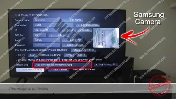 Samsung Camera on a Roku TV