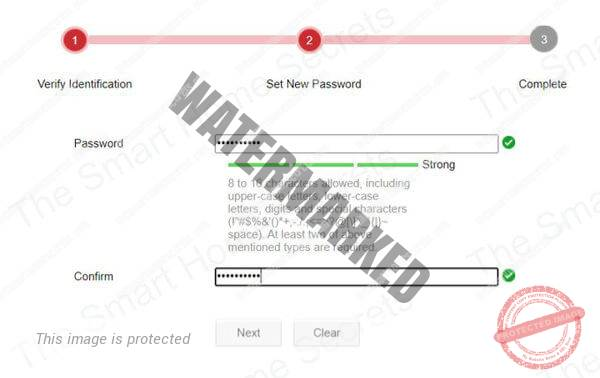 Set New Password for Hikvision camera