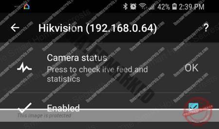 TinyCam Check Camera Status