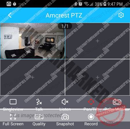 Amcrest Wi-Fi Pan Tilt Camera on the App Multiview