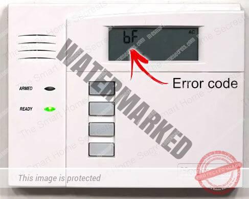 ADT Error Code bF
