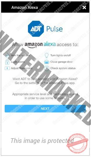 Allow Alexa to Control the ADT devices