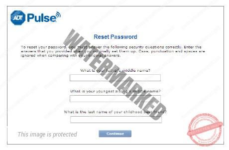 ADT Pulse password reset