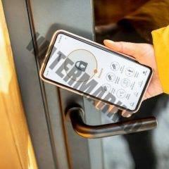 locking doors with phone