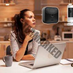 woman-thinking-about-ring-and-blink-cameras