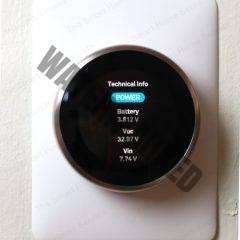 Nest Thermostat Battery Menu