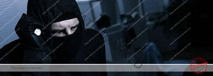 Burglar inside a home