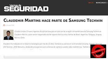 Claudemir Martins Ventas de Seguridad Article