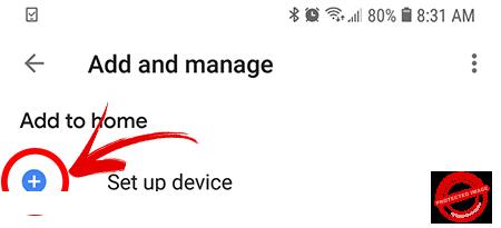 Setup Device