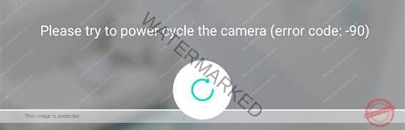 Error code 90 on the Wyze Cam