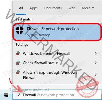 Open the Windows Firewall