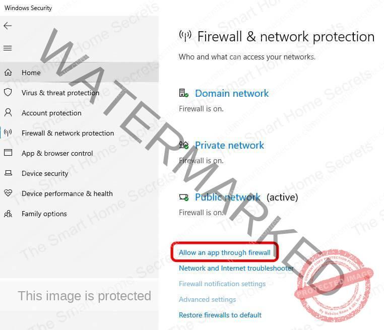 Windows Firewall Allow an App