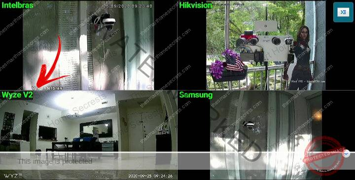 Multiple cameras on TV via IP Cam Viewer
