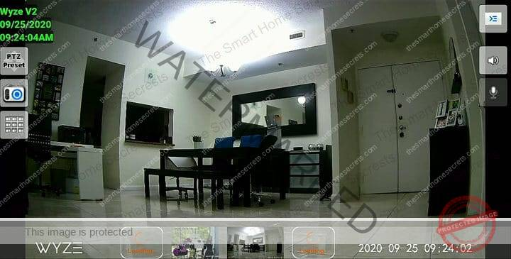 Wyze Cam on TV using IP Cam Viewer