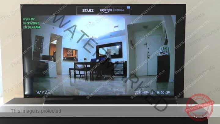 Wyze Cam on TV using the IP Cam Viewer