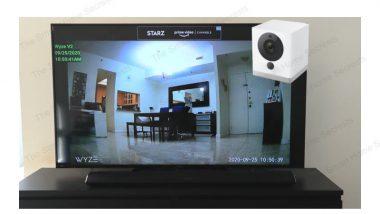 Wyze Camera on TV
