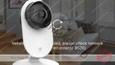 Yi home camera Error 3030