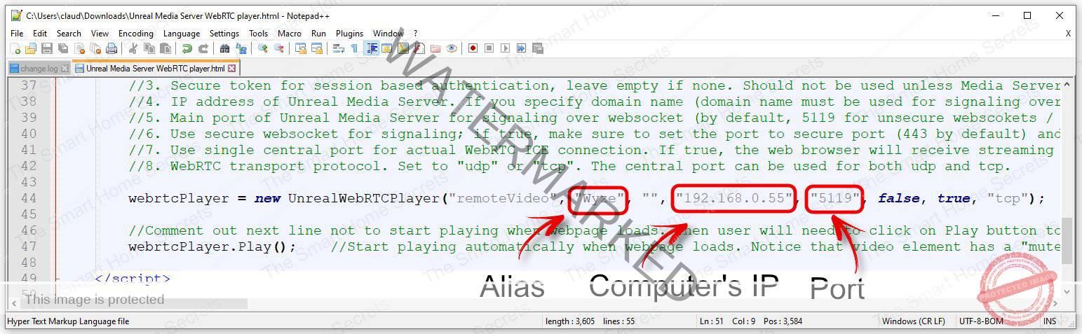 WebRTC File configuration